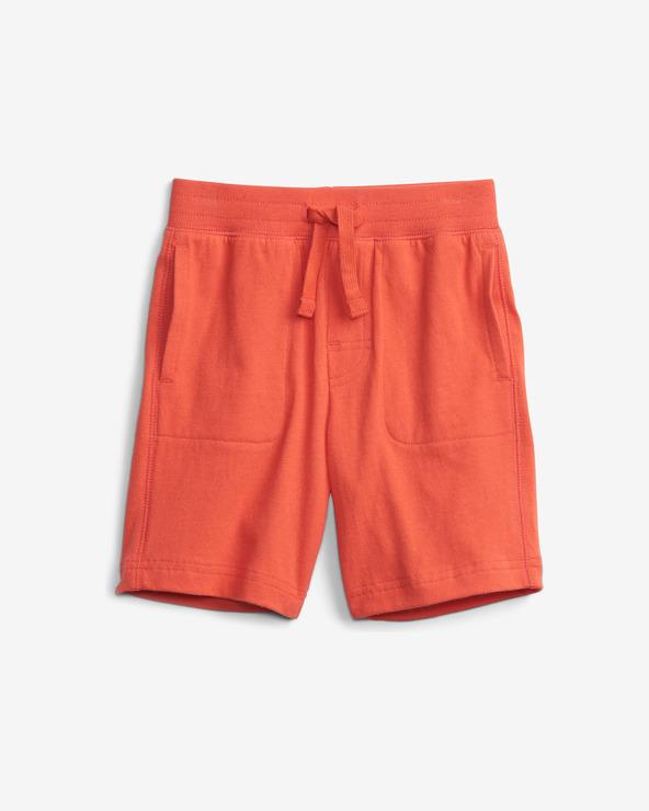 GAP Organic Mix and Match Pull-On Pantaloni scurţi pentru copii Roșu