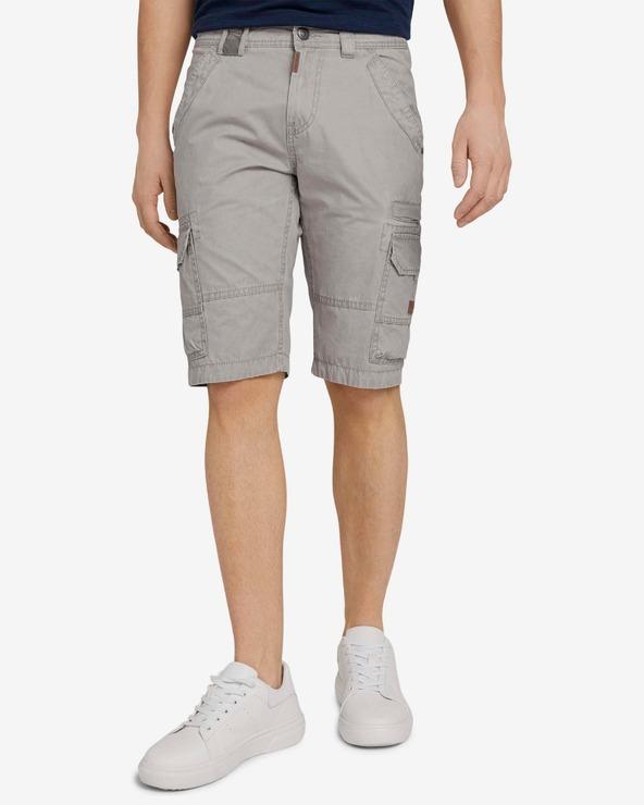Tom Tailor Cargo Pantaloni scurți Gri