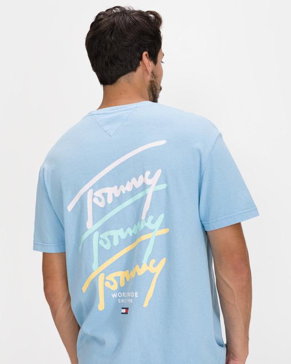 Levně Tommy Jeans Pastel Signature Triko Modrá