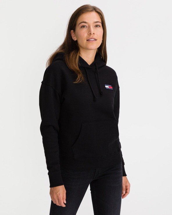 Tommy Jeans Tommy Badge Hanorac Negru
