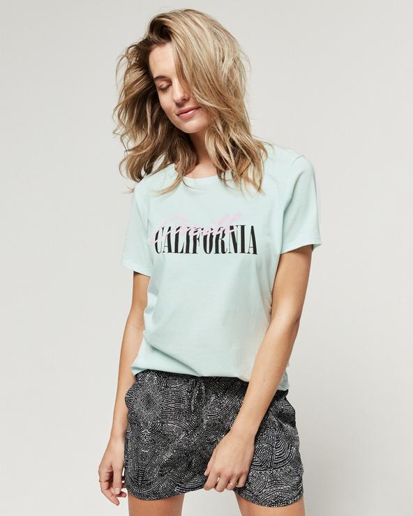 O'Neill Script T-Shirt Blau Grün