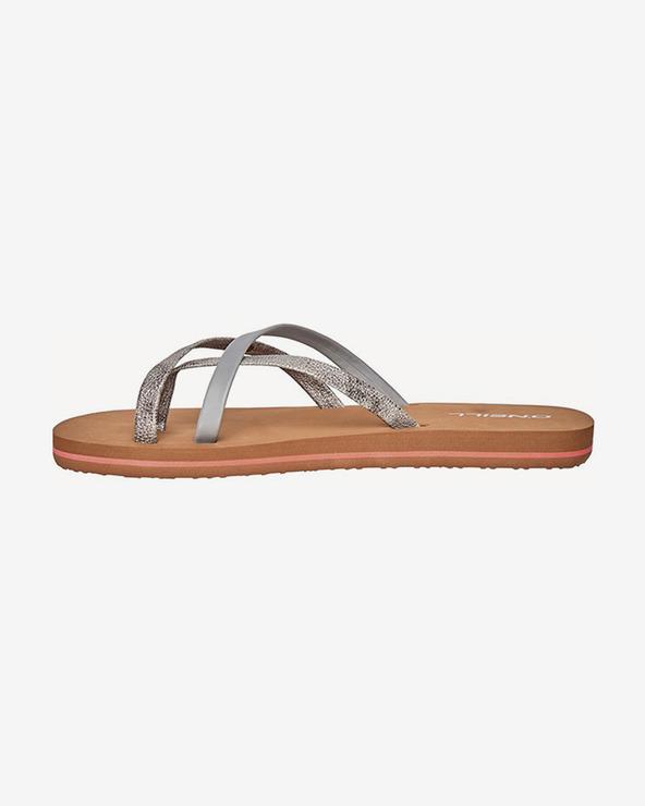O'Neill Flip-Flops Braun Silber