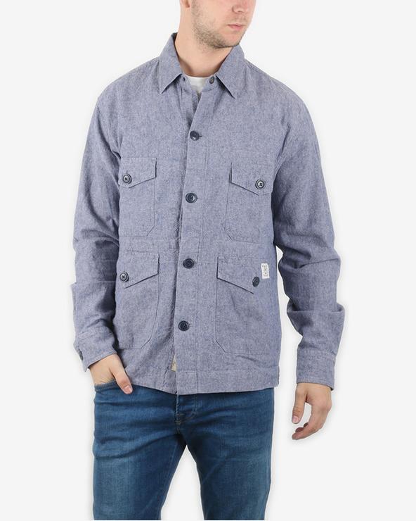 Pepe Jeans Maidstone Hemd Blau Grau