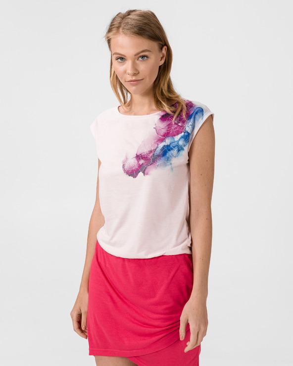 Loap Algera Kleid Rosa Weiß