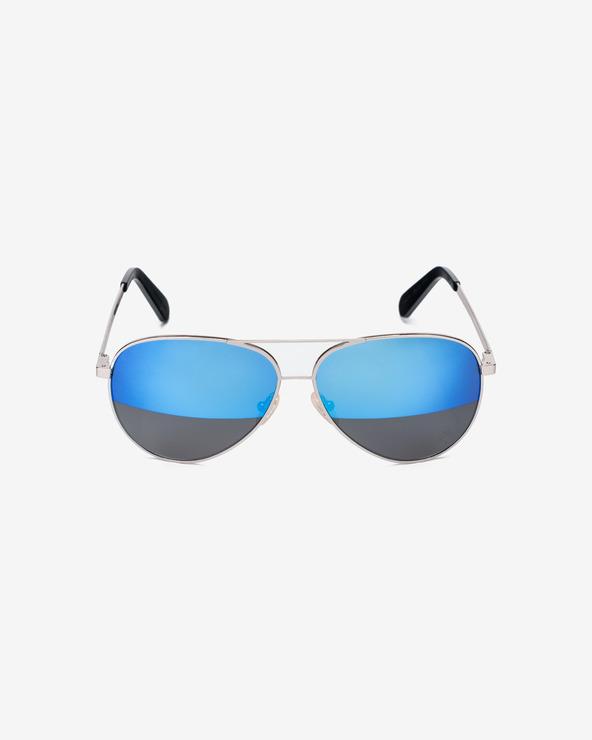 Philipp Plein Free Small Sunglasses Blau Silber