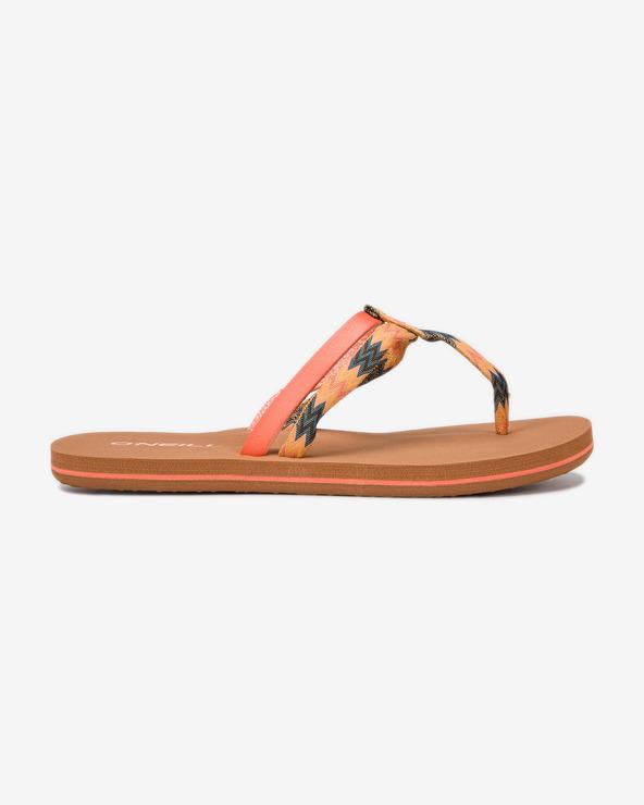O'Neill Venice Ditsy Flip-Flops Braun