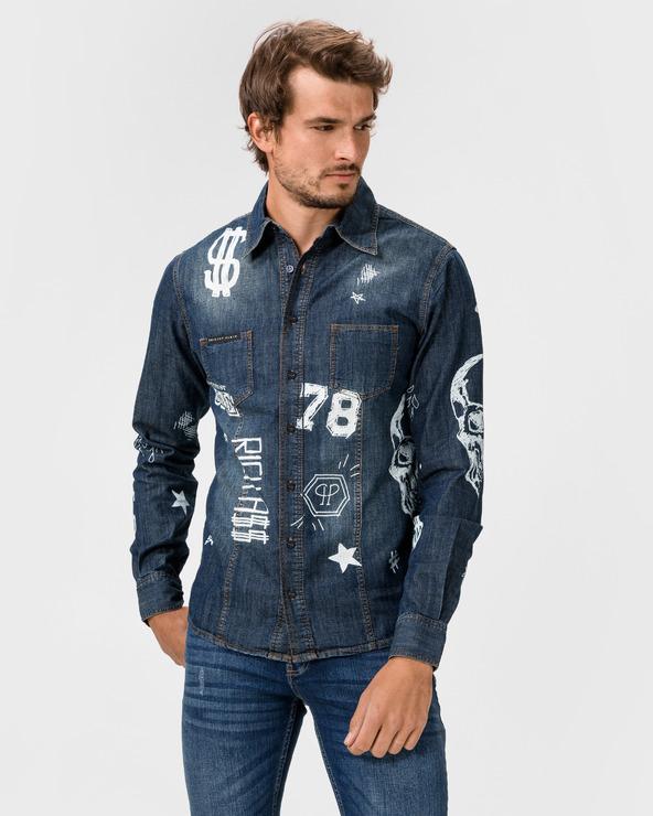 Philipp Plein Idol Hemd Blau