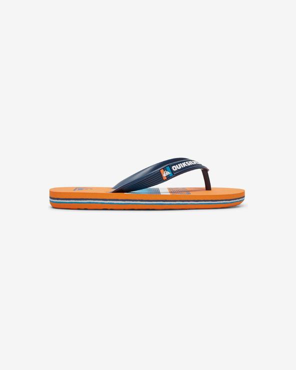 Quiksilver Molokai Slab Flip-Flops Kinder Blau Orange
