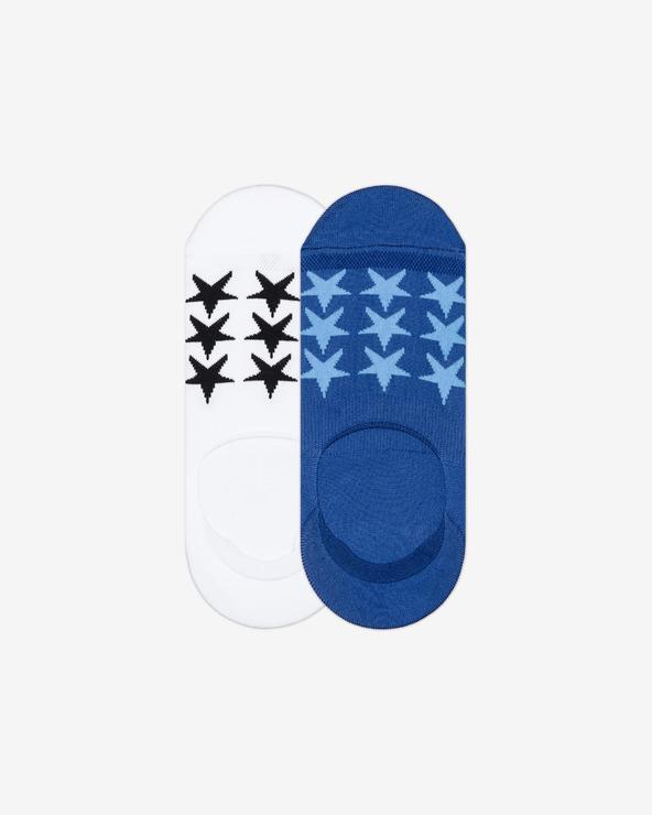 Converse Socken 2 Paar Blau Weiß