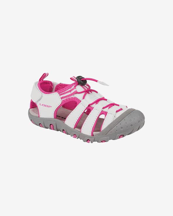 Loap Dopey Sandalen Kinder Rosa Weiß